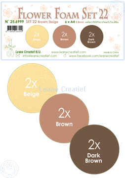 Picture of Flower Foam set 22 /6x A4 sheet /3 shades of Brown-Beige