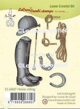 Afbeeldingen van LeCreaDesign® combi clear stamp Paardrijden