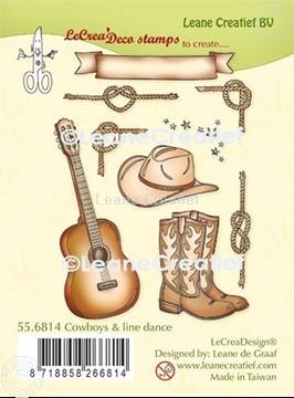 Image de LeCreaDesign® tampon clair à combiner Cowboys et Danser