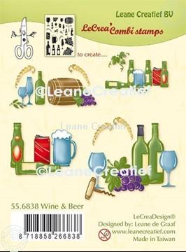Afbeeldingen van LeCreaDesign® combi clear stamp Wijn en Bier