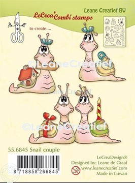 Picture of LeCreaDesign® combi clear stamp Snail couple