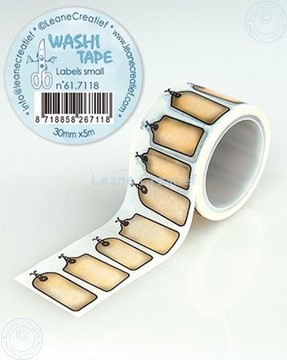 Image de Washi tape Labels petites, 30mm x 5m.