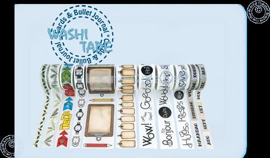 Picture of Washi tape Dutch Maanden, 10mm x 5m.