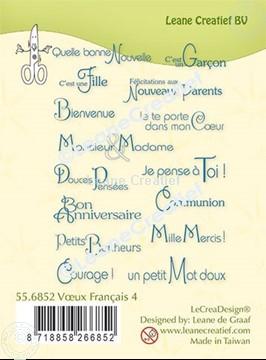Image de LeCreaDesign® tampon clair à combiner Vœux Français 4.