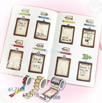 Afbeeldingen van BJ Washi tape clipboard page