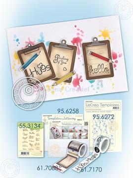 Bild von Washi tape clipboard