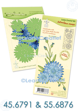 Image de Set Multi die & Clearstamp Cornflower 3D