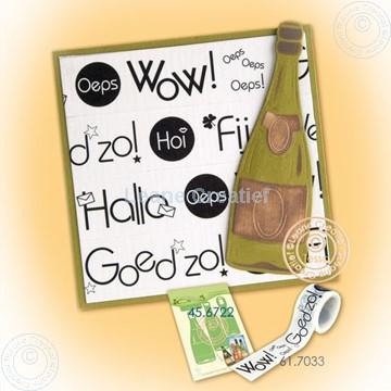 Bild von Laptop with Washi text