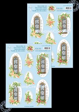Bild von Dekorationsblätter Fensterszene