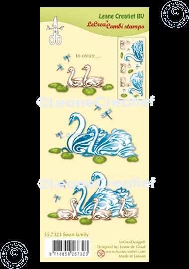 Image sur LeCreaDesign® tampon clair à combiner Famille de cygnes