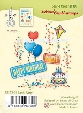 Afbeeldingen van LeCreaDesign® combi clear stamp Feest