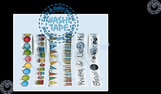 Bild von Washi Tape runde Labels, 20mm x 5m.