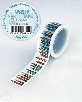 Image de Washi tape Bougies, 20mm x 5m.