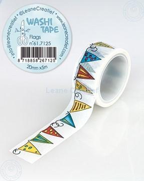 Afbeeldingen van Washi tape Vlaggetjes, 20mm x 5m.