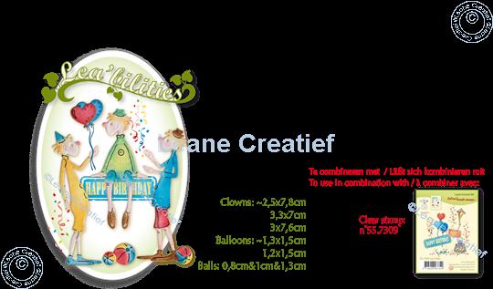 Image sur Lea'bilitie® Clowns matrice pour découper & gaufrage