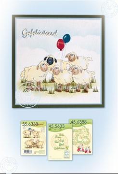 Afbeeldingen van Card with sheep