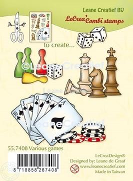 Afbeeldingen van LeCreaDesign® combi clear stamp Diverse spelen