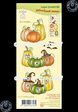 Afbeeldingen van LeCreaDesign® combi clear stamp Pompoenen