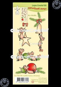 Afbeeldingen van LeCreaDesign® combi clear stamp The world of mice Kerst