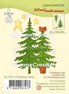 Afbeeldingen van LeCreaDesign® combi clear stamp Kerstbomen