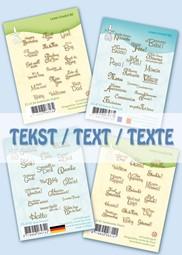 Image de la catégorie Clear stamps Texte