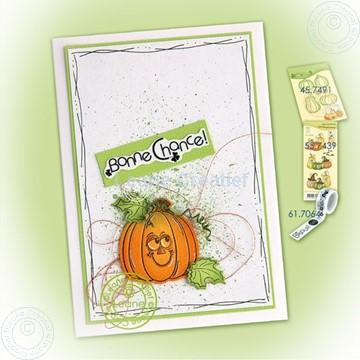 Bild von Pumpkin on splatter background